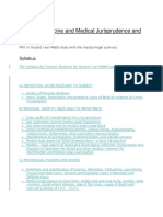 Forensic Medicine and Medical Jurisprudence and Toxicology