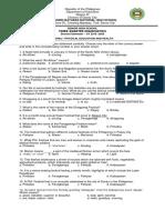 THIRD-QUARTER exam in PE 12