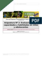 Evaluación capacidades y habilidades motoras