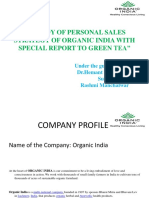A STUDY OF PERSONAL SALES STRATEGY OF ORGANIC