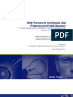 PDF_QUEST_Best Practices for Continuous Data Protection and E Mail Discovery