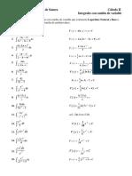 Integrales Con Cambio de Variable (Expresiones Logaritmo Natural y Base e)