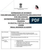 EOI for Small Business Academy -MSME
