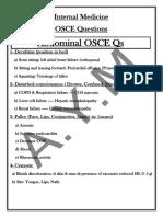 OSCE Qs Internal Medicine