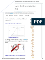 Electrical and Instrumentation Engineering_ How to Calculate Knee Point Voltage of Current Transformer_