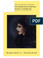 Perspective Psihologice Privind Mitologia Vampirilor Margaret L. Shanahan Traducere Si Adaptare de Mihaela Onofrei