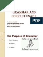 11.17.2016 English Presentation - Grammar and Correct Usage