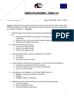 Examen economía 4ºC ESO tema 4-5