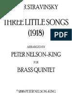 Stravinsky Three Little Songs