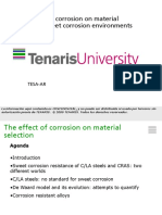 Effect of corrosion materials