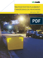 Code of Practice for Placement of Waste Bins on Roadsides