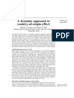 A Dynamic Approach to Country-Of-Origin Effect