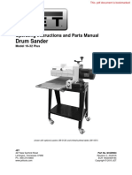 Jet Drum Sander manual