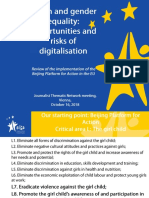 Youth and gender equality opportunities and risks of digitalisation