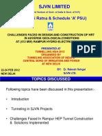 tunnel ppt Rakesh Sehgal