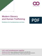 Modern Slavery, Human Trafficking and Homelessness 2018