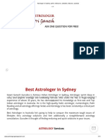 Astrologer in Sydney, Perth, Melbourne, Adelaide, Brisbane, Australia (1)