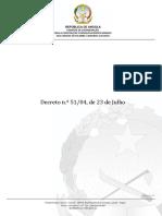 Decreto n.º 51 04, de 23 de Julho