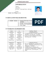 CV-DO VIET KHOA - English Teacher