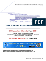 Agriculture& Forestry CSS Paper 2019 _ FPSC CSS Past Papers 2019