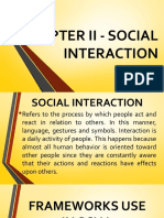 CHAPTER II - SOCIAL INTERACTION