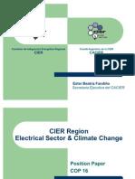 Presentación Ester Fandiño - COP 16 CIER Region Electrical Sector Climate Change