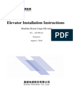 Installation instruction Elevator