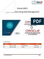 Data Load into ARCS From FCCS using Data Management