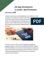 Top 10+ Mobile App Development Companies in jordan   App Developers Amman 2020