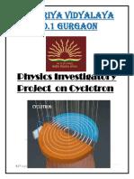 physics investigatory class 12 cyclotron