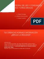 PREVENCIÒN INTEGRAL DEL USO Y CONSUMO DE TABACO,ALCOHOL