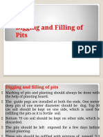 Digging and Filling of Pits