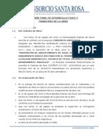 INFORME DE DESARROLLO FISICO Y FINANCIERO