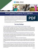 (Key Findings) World Population Prospects 2019.pdf