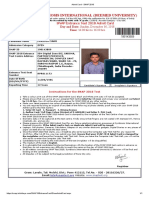 Admit Card - SNAP 2018