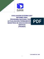 [Programa Nacional para la Actualización Permanente de los Maestros de Educación informe final