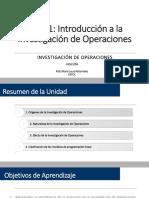 Unid 1 - Introducción a la Investigación de Operaciones