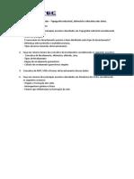 Exercícios de revisão - ALTIMETRIA, MECSOL E TOPOGRAFIA INDUSTRIAL