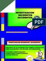 Investigación Incidente, Accidente.