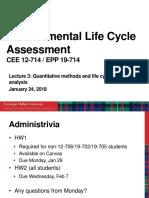 Lecture 3 - Quantitative Methods and LCCA - S18