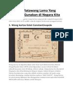 8 Sistem Matawang Lama Yang Pernah di Gunakan di Negara Kita.docx
