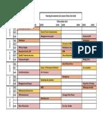 Planning des examens GC semestre I - 2019-2020
