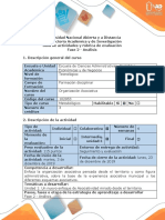 Guía de actividades y rúbrica evaluación Fase 2 - Análisis