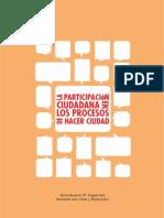 LA PARTICIPACIÓN CIUDADANA EN LOS PROCESOS DE HACER CIUDAD