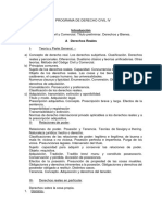 DERECHO CIVIL IV-Programa 2017