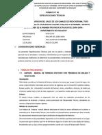 FORMATO N° 08 ESPECIFICACIONES TECNICAS - ANTA HUAYCCO
