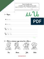 1.3 Ficha de trabalho - Grafismos e grafema u - U (1)