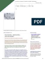 Historia de las Ideas y de la Educación 1_ DIACRONÍA - SINCRONÍA - ANACRONISMO