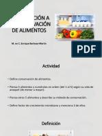 1. Introducción a la conservación de alimentos
