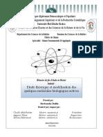 Etude Théorique Et Modélisation Des Quelques Molécules Berbouche Dalila